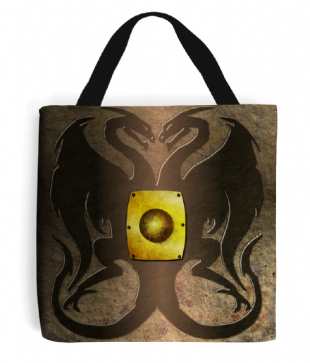 Dark Souls Inspired Twin Dragon Greatshield Shield Tote Bag Handbag